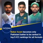 The top #batter is currently part of the #Pakistani cricket team playing against... 5