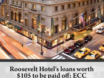 #RooseveltHotel's loans worth $105 to be paid off: #ECC  Details:   #TheNews 13
