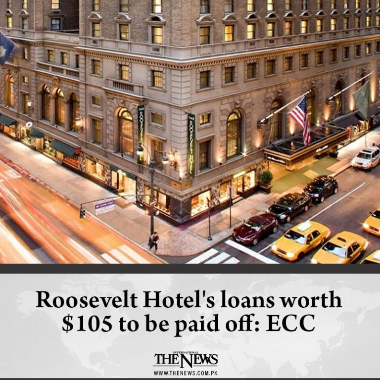 #RooseveltHotel's loans worth $105 to be paid off: #ECC  Details:   #TheNews 3