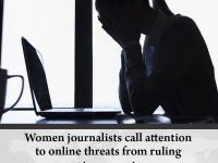 Women journalists call attention to online threats from ruling party supporters ... 30