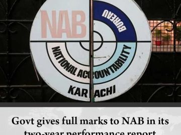 #Govt gives full marks to #NAB in its two-year performance report  Read more:   ... 9
