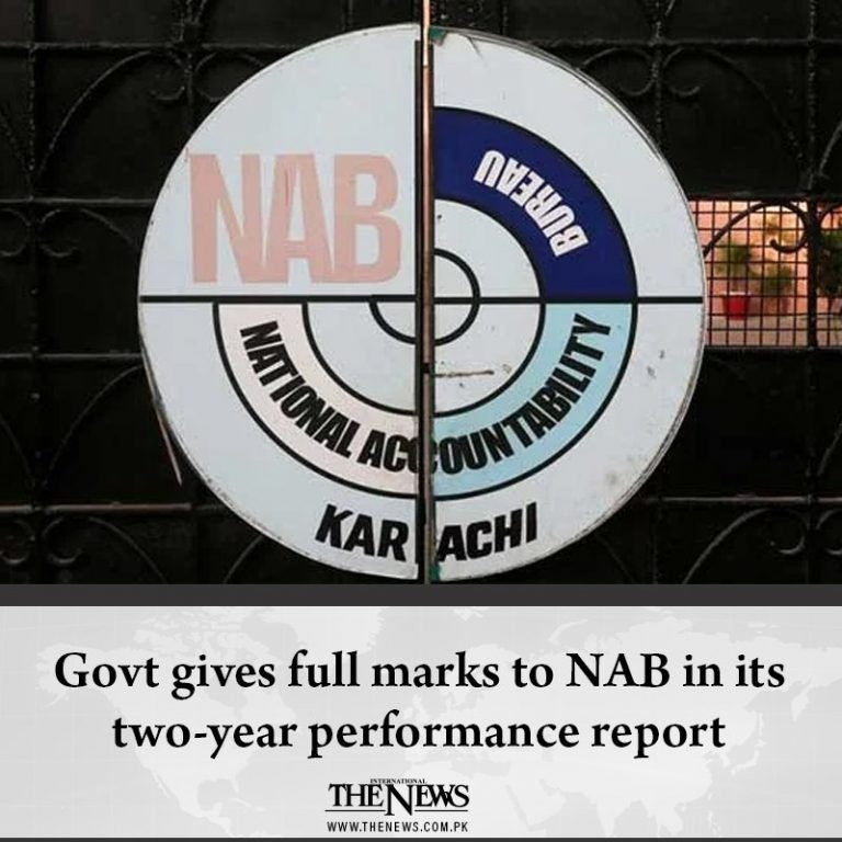 #Govt gives full marks to #NAB in its two-year performance report Read more: ... 3