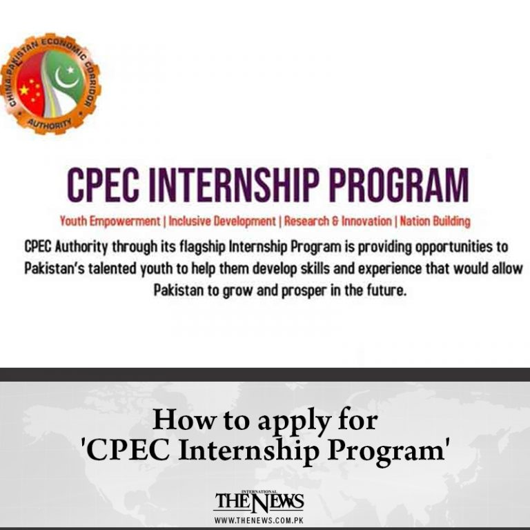 The CPEC Authority has launched an internship programme to develop young leaders... 3