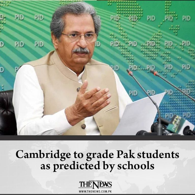 Federal Education Minister Shafqat Mahmood Monday night announced that Cambridge... 3