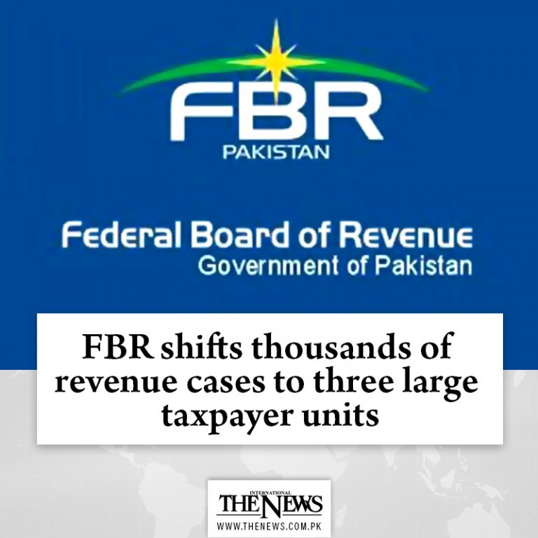 #FBR shifts thousands of revenue cases to three large #taxpayer units Read more... 3