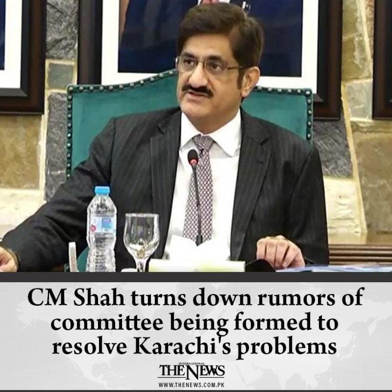 #CMShah turns down rumors of committee being formed to resolve #Karachi's proble... 3