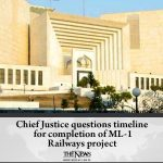 #ChiefJustice questions timeline for completion of #ML1 Railways project Read m... 6