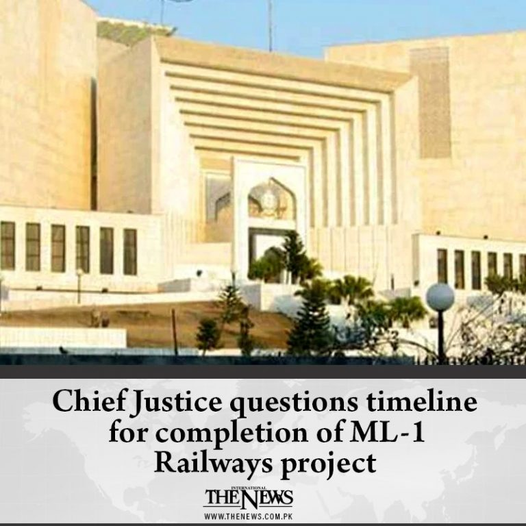 #ChiefJustice questions timeline for completion of #ML1 Railways project Read m... 3