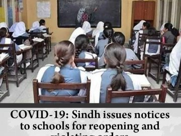 COVID-19: #Sindh issues notices to schools for reopening and violating orders D... 17