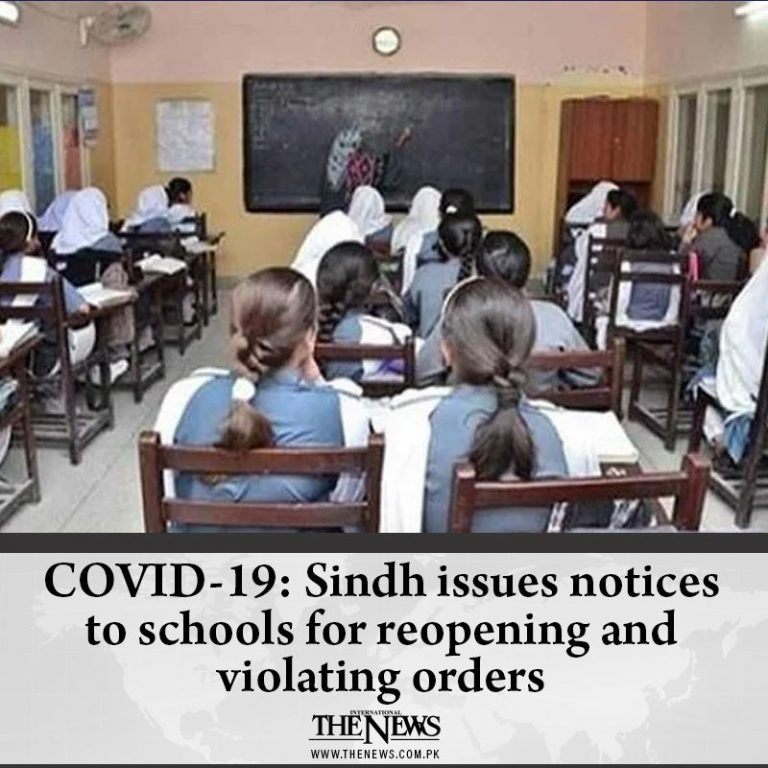 COVID-19: #Sindh issues notices to schools for reopening and violating orders D... 3