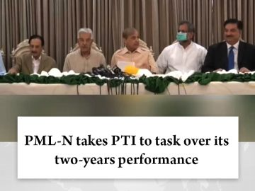 #PMLN takes #PTI to task over its two-years performance  Details:   #TheNews 3