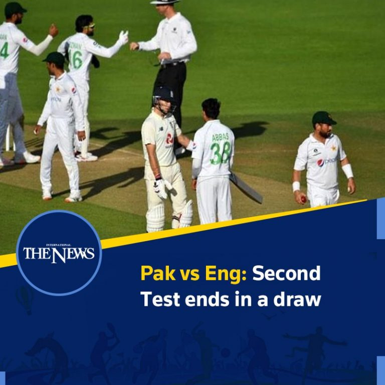 Pak vs Eng: Second Test ends in a draw Details: #TheNews 3