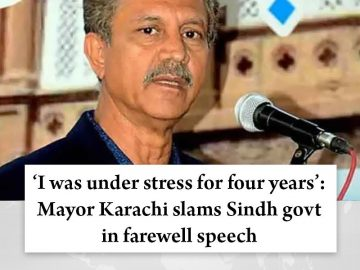 'I was under stress for four years': #MayorKarachi slams #Sindh govt in farewell... 15