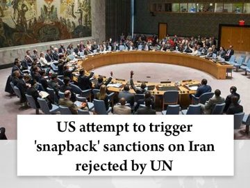 #US attempt to trigger '#snapback' sanctions on Iran rejected by #UN  Read more:... 8