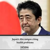 #Japan's Abe resigns citing health problems  Details:   #TheNews 8