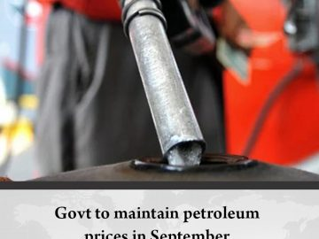 #Govt to maintain #petroleumprices in September  Details:   #TheNews 3