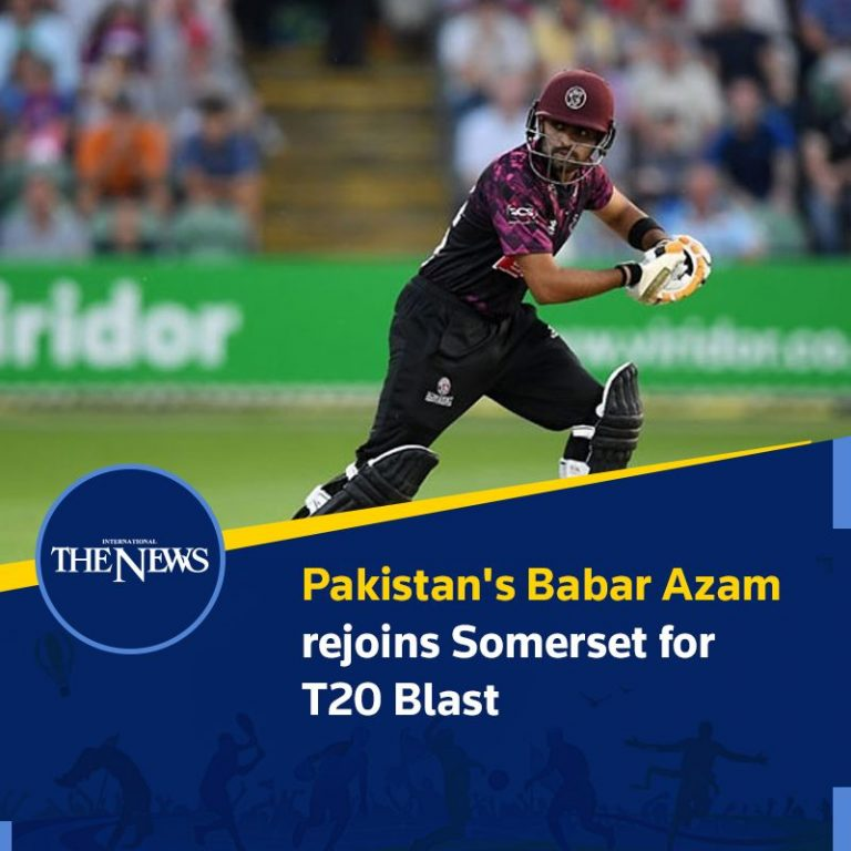 #Pakistan's #BabarAzam rejoins Somerset for T20 Blast Details: #TheNews 3