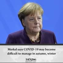 #Merkel says COVID-19 may become difficult to manage in autumn, winter  Details:... 3