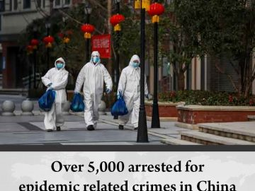 Over 5,000 people have been arrested in #China for epidemic-related crimes since... 4