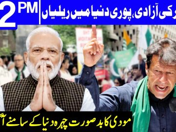 Freedom of Qashmir | Rallies in all over the world | Headlines 12 PM | 5 August 2020 | Dunya | DN1