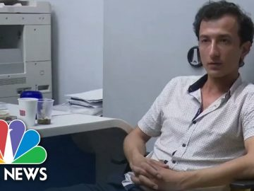 Watch: Hostage Taker Captured On Live TV In Ukraine | NBC News NOW