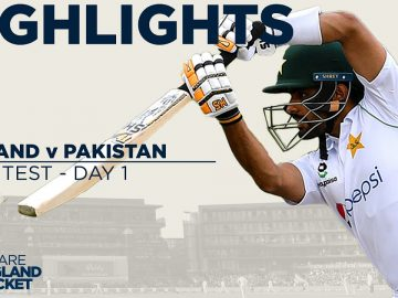 Day 1 Highlights | England Frustrated by Rain as Babar Impresses | England v Pakistan 1st Test 2020