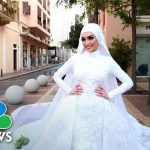 Bride Whose Wedding Video Caught Beirut Explosion Returns To The Scene | NBC News NOW