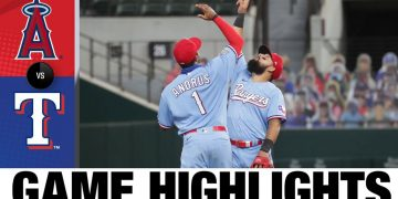 Lance Lynn records 100th win to lead Rangers | Angels-Rangers Game Highlights 8/9/20