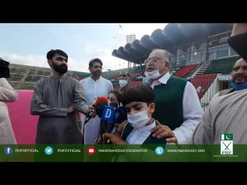 Akhtar Rasool Chaudhary Kamboh on Independence Day Hockey Match talking to media 14-08-2020