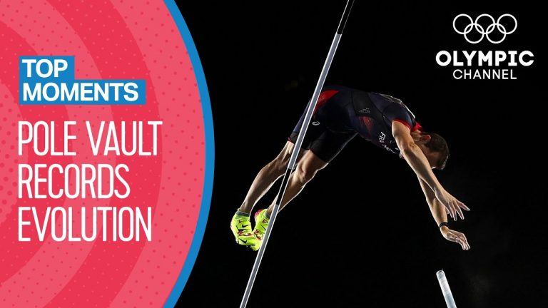 Evolution of the Pole Vault Olympic Record! | Top Moments
