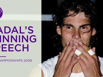 Rafael Nadal's 2008 winning speech | Wimbledon Retro