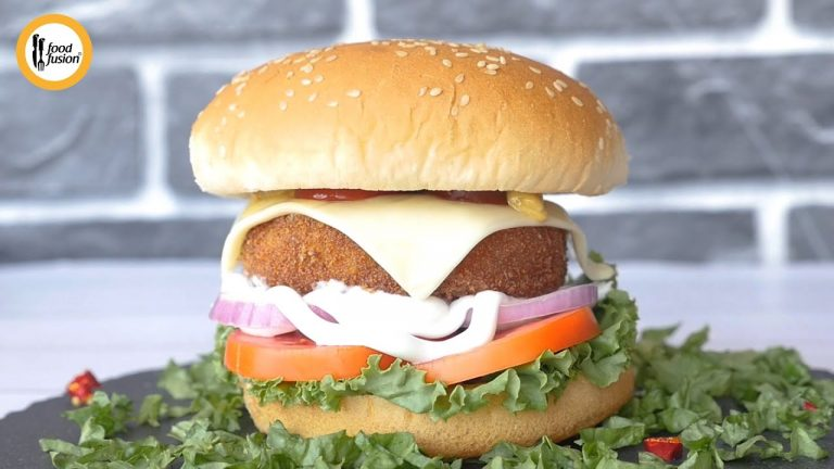 Homemade Chicken Burger Patty Recipe By Food Fusion