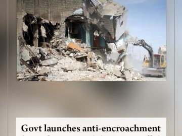 Govt launches anti-encroachment drive along #Karachi's Gujjar nullah  Read more:... 9