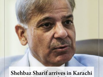 #ShehbazSharif arrives in #Karachi with 'message of solidarity'  Read more:   #T... 5