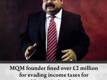 #MQM founder fined over £2 million for evading income taxes for 20 years in #Lon... 1