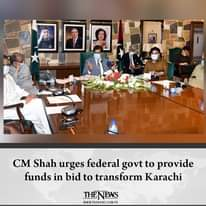 #CMShah urges federal govt to provide funds in bid to transform #Karachi  Detail... 4