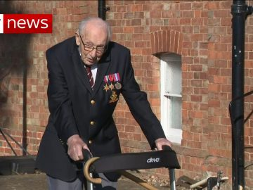 99-year-old war veteran raises millions for NHS