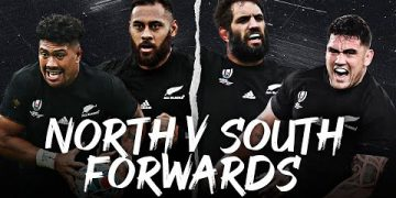 North v South | Best of All Blacks Forwards | Rugby World Cup Highlights