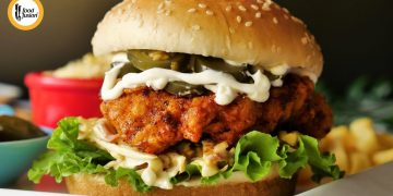 Nashville Hot Chicken Burger Recipe By Food Fusion