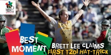 Brett Lee claims first T20I hat-trick | AUS v BAN | T20WC 2007