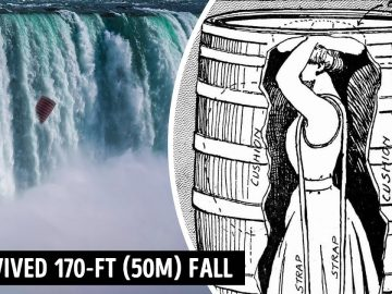 Only She Could Survive Niagara Falls Tumble in a Wooden Barrel