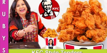 KFC Style Extra Crispy Chicken Strips or Tenders Recipe in Urdu Hindi - RKK