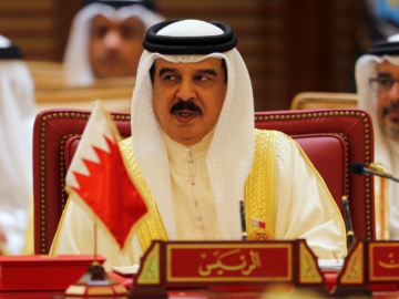 Bahrain's King Hamad says ties with Israel are a 'refined message' for peace. 11