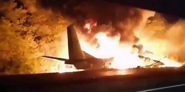 22 dead after military plane crash in Ukraine. 14