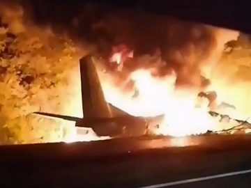 22 dead after military plane crash in Ukraine. 16