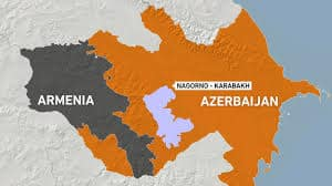 World leaders urge halt to violence after 24 dead: Azerbaijan-Armenia clash 18