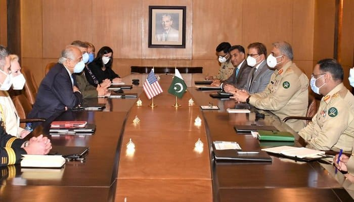 Khalilzad discusses Afghan peace process, In a meeting with Pak Army chief, 1