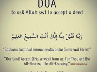 To ask Allah to accept a deed 29