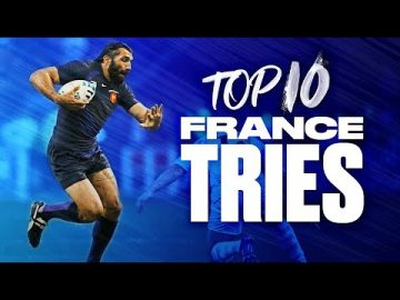 🐓 Allez Les Bleus 🏉 | Top 10 France Tries at Rugby World Cup 5