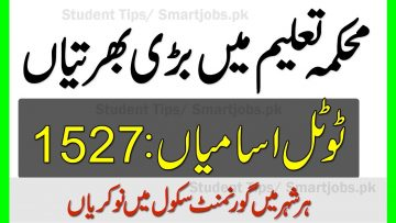 Latest Jobs in Education department , Education department class iv jobs 2020